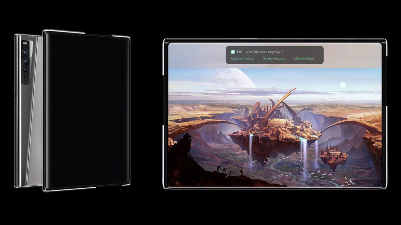 oppo x 2021 smartphone estendibile