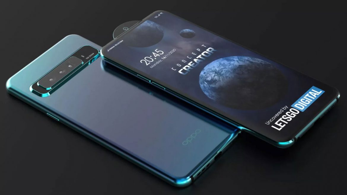 oppo smartphone pop-up camera circolare