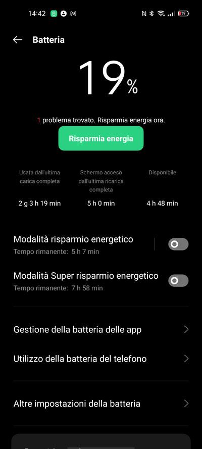 OPPO Find X3 Lite durata batteria