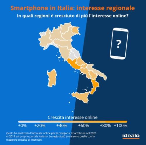 smartphone italia interesse reginoale