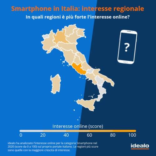 smartphone italia interesse regionale