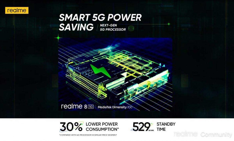realme smart 5g power saving