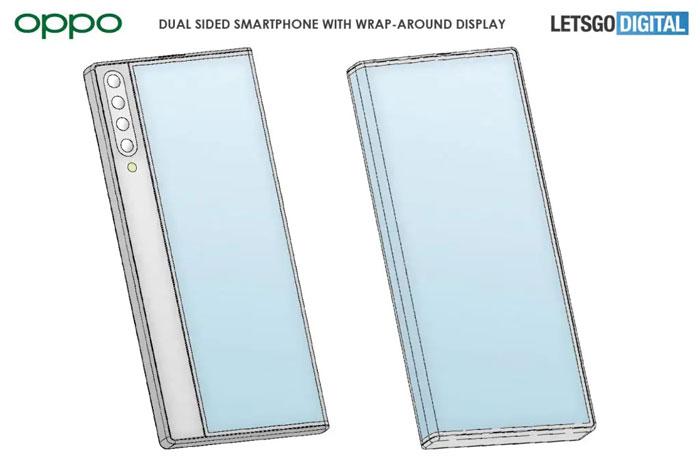 oppo smartphone avvolgente brevetto